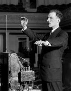Lev Termen playing the theremin ca. 1927
