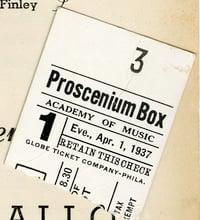 MSS 10 Proscenium box ticket 1937