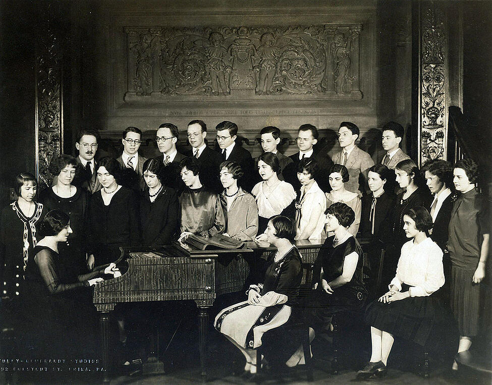 Landowska and students at Curtis, circa 1927