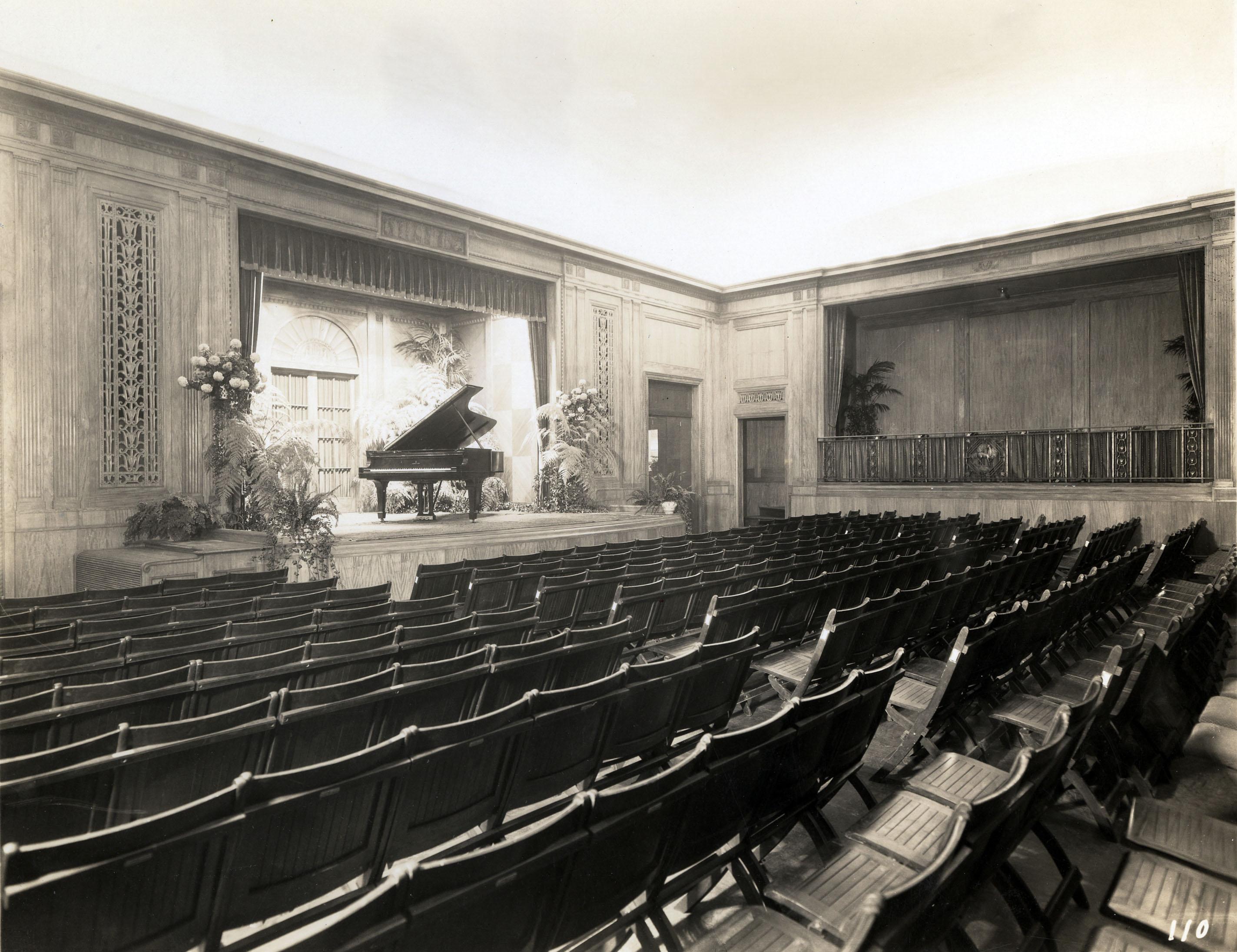 Casimir Hall inaugural recital, 1927