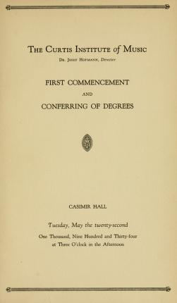 First Curtis commencement program, 1934